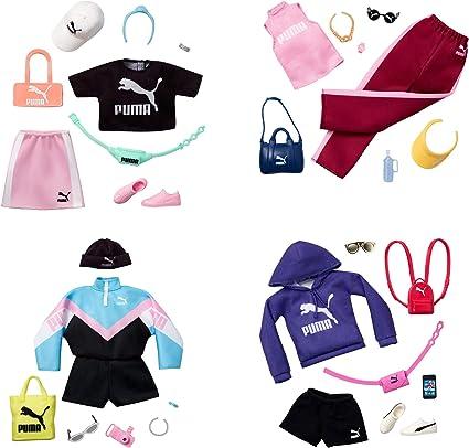 Amazon.es: Barbie Pack de Moda Puma Ropa deportiva Azul con Accesorios (Mattel Gjg29): Juguetes y juegos