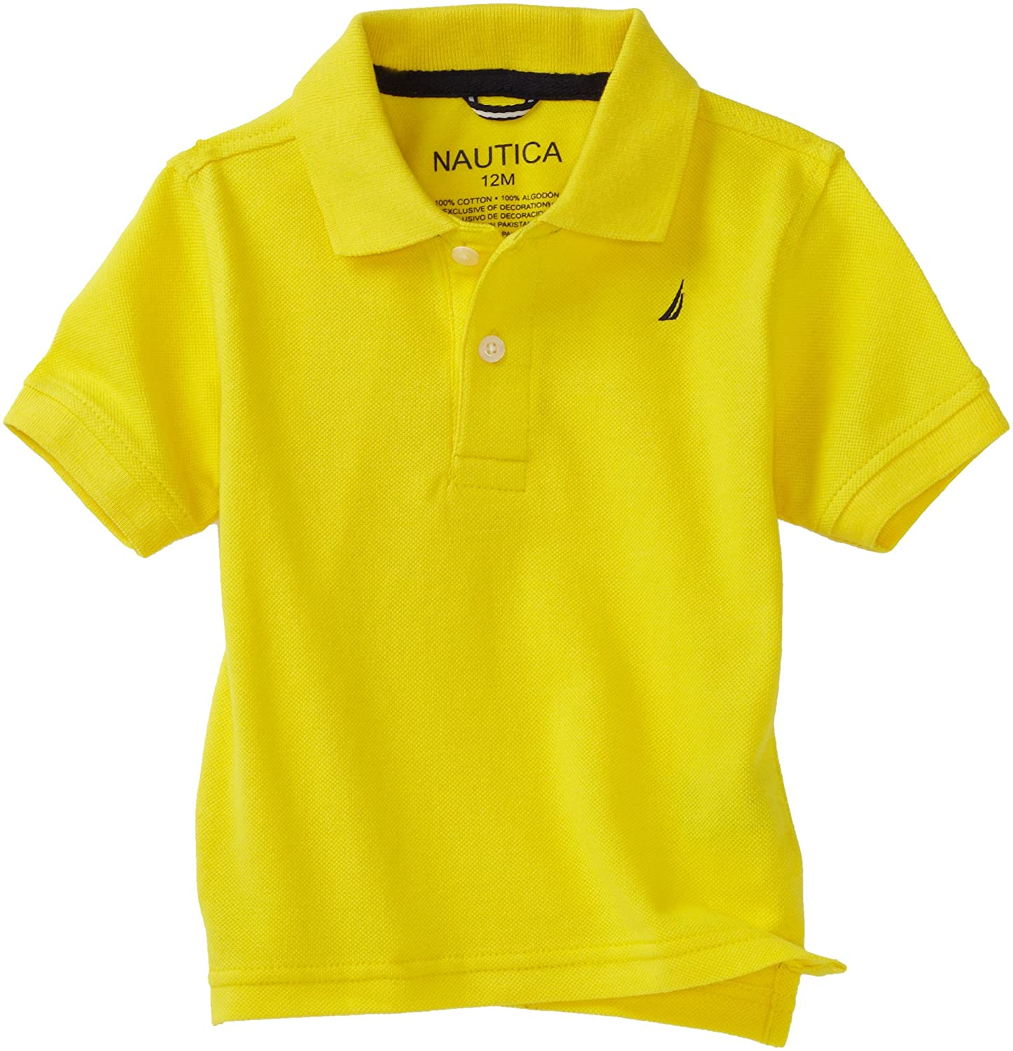 17beafd92 Amazon.com: Nautica Sportswear Kids Baby Boys' Short Sleeve Solid Polo Shirt,  Yellow, 24 Months: Infant And Toddler Polo Shirts: Clothing