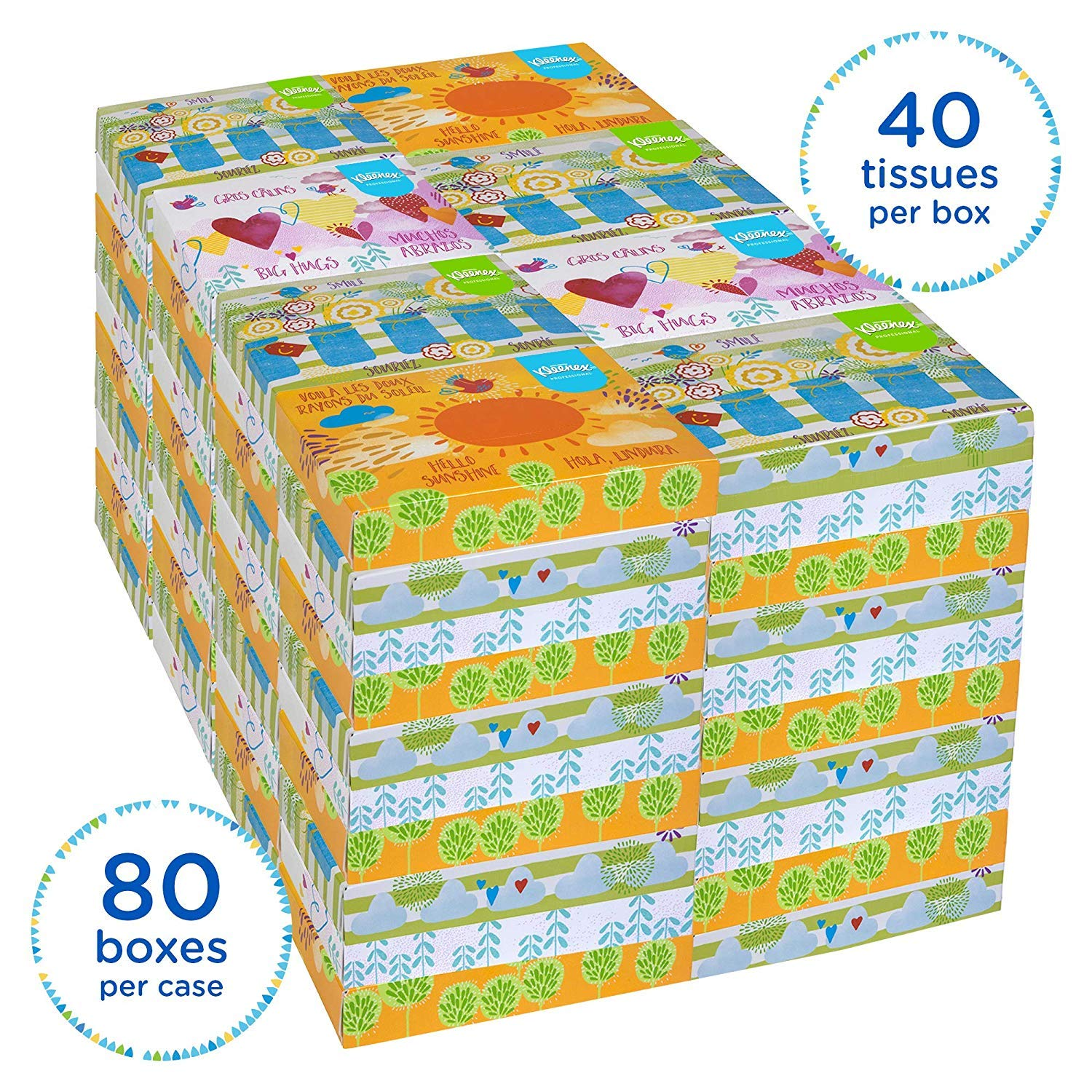 Kleenex Professional Facial Tissue for Business (21195), Flat Tissue Boxes, 80 Junior Boxes/Case, 40 Tissues/Box by Kimberly-Clark Professional (Image #3)