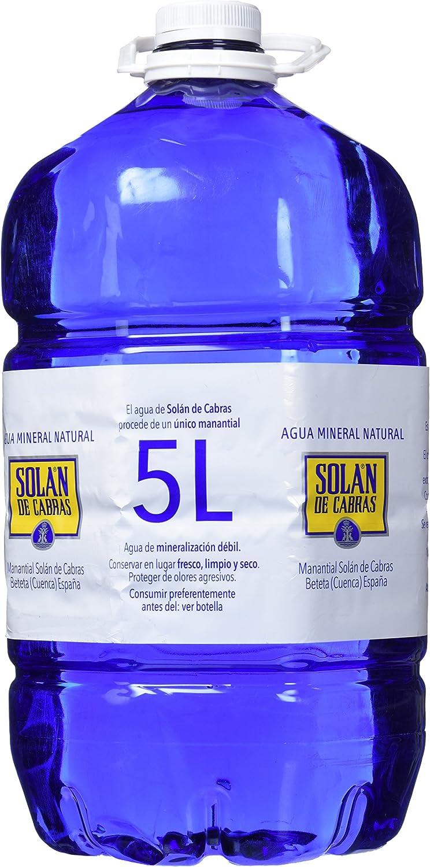 Solán de Cabras Agua Mineral Natural - 5 l: Amazon.es: Alimentación y bebidas