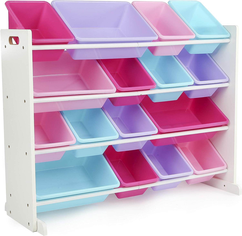 Tot Tutors Dark Walnut Primary Super-Sized Kids Toy Storage Organizer Durable