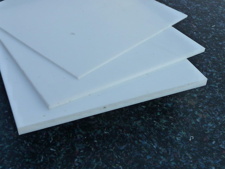 Teflon Sheet PTFE white 295 x 295 x 0,5 mm Plate PTFE
