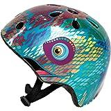 Small Blue Chameleon Helmet