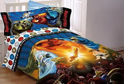 Amazon.com: Lego Ninjago Ninja Masters Twin Comforter: Home & Kitchen
