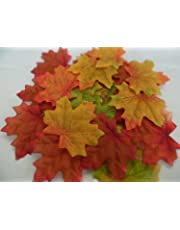 100 AUTUMN/MAPLE SILK LEAVES MULTI COLOURED/WEDDING/DECORATION