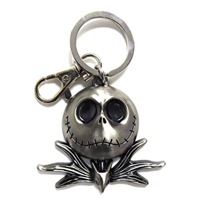 Nightmare Before Christmas Jack Head Pewter Key Ring: Toys & Games