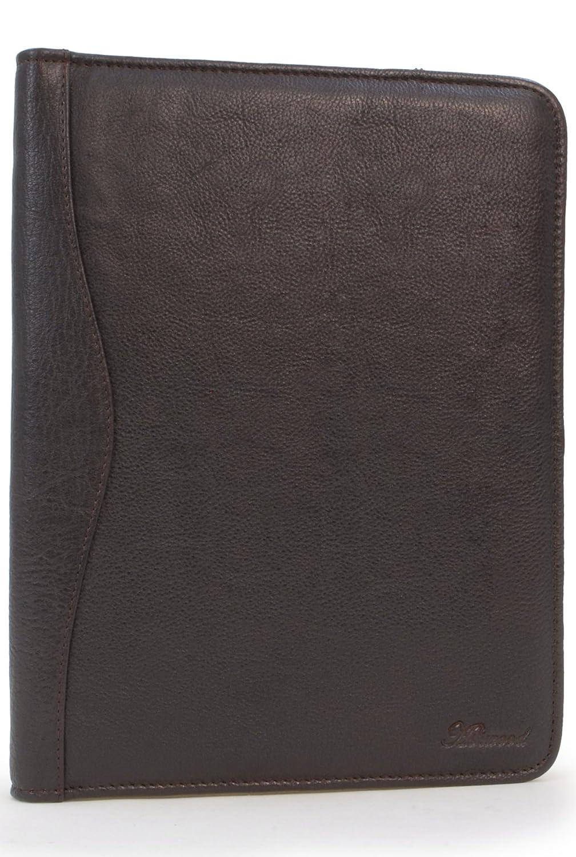 ASHWOOD - Carpeta portadocumentos (cremallera, anillas, múltiples bolsillos, tamaño A4) - Cuero Ashwood Leather A4 Folder