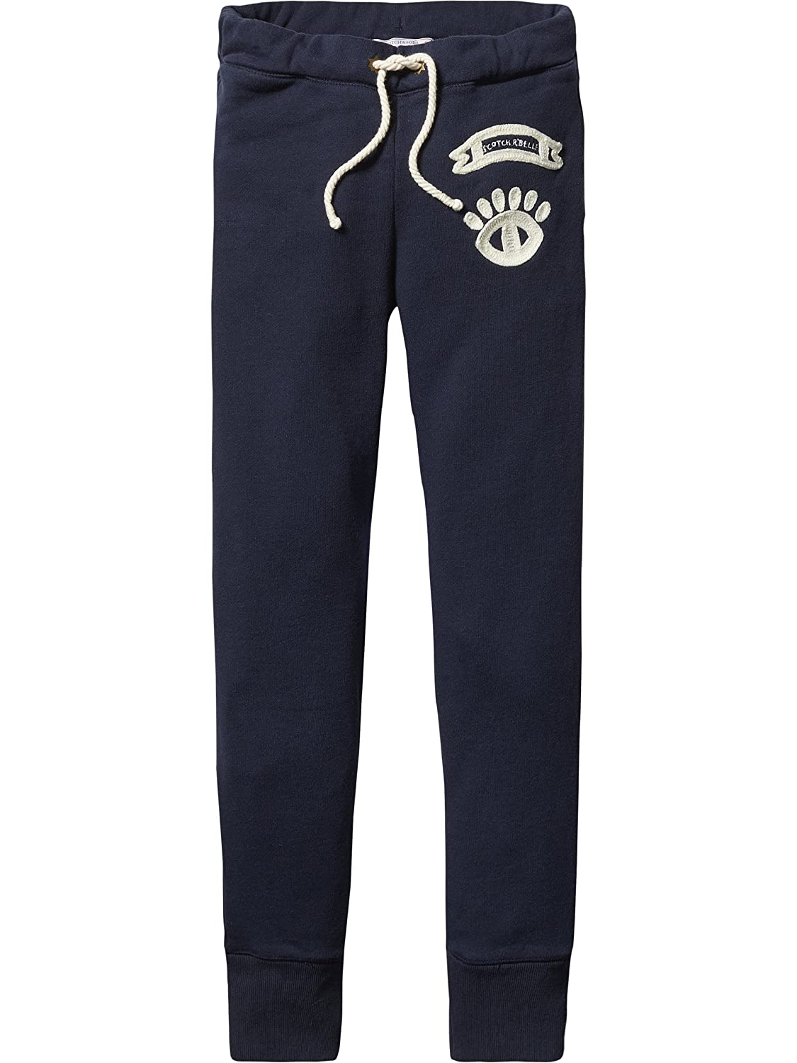 Scotch R'Belle Mädchen Hose Sweat Pants with Embroidered Artworks