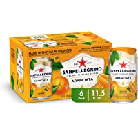 Sanpellegrino Italian Sparkling Drink, Orange, 11.15 Fluid Ounce, Cans (Pack of 6)