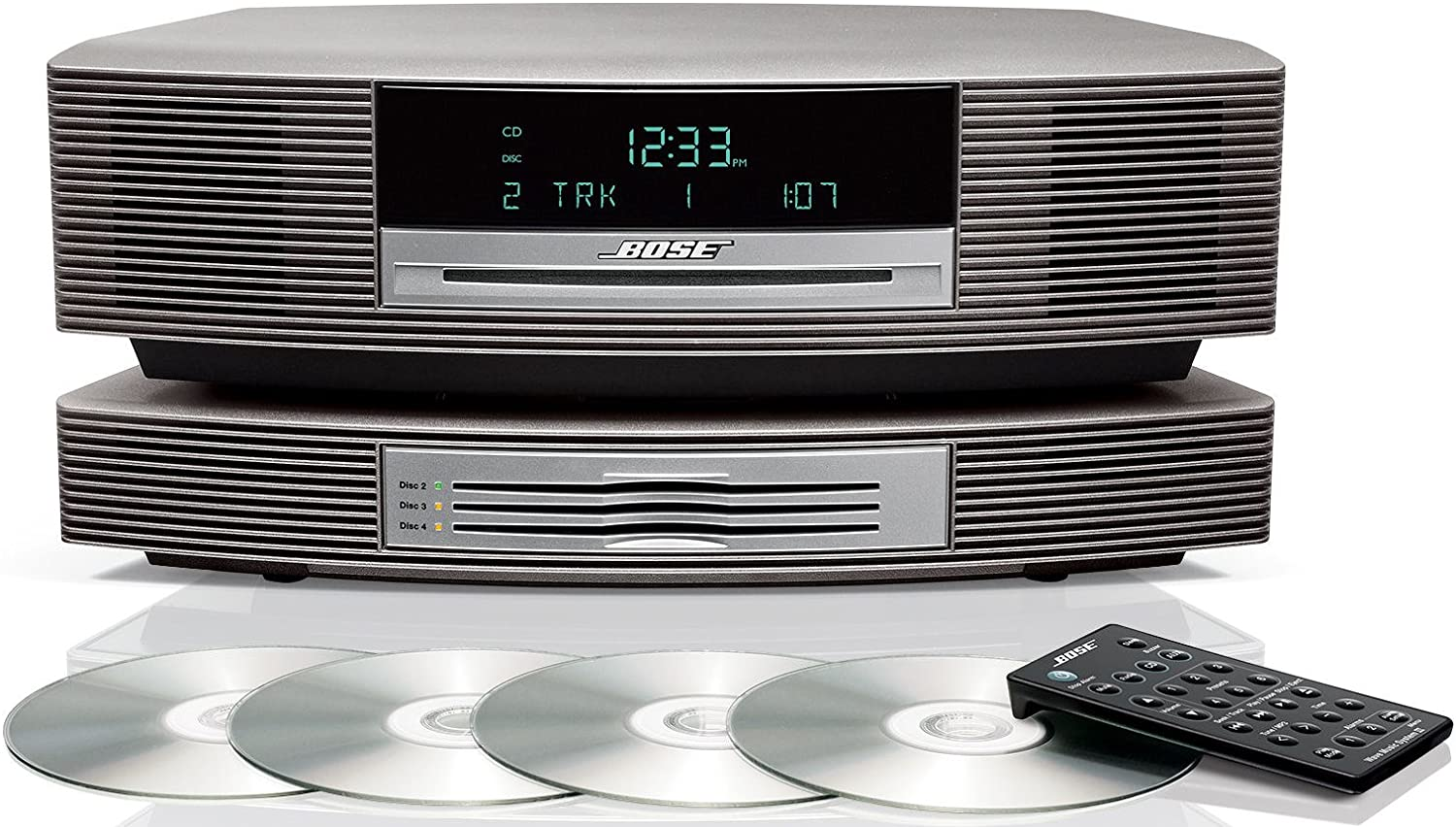 Bose Wave Music System with Multi-CD Changer - Titanium Silver
