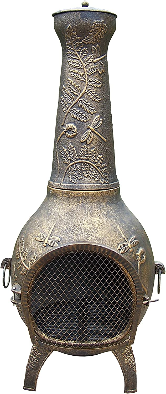 Oakland Living Dragonfly Chimenea, 53-Inch, Antique Bronze