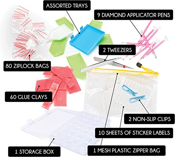 Bright Creations 172 Piece 5D DIY Diamond Painting Tools Set