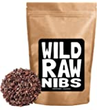 Wild Raw Nibs, Raw Cacao Nibs From Organically Grown Cocoa - Single-Origin, Gluten-Free, NON-GMO Superfood - Baking, Smoothies, Recipes, Snacking (8 ounce)