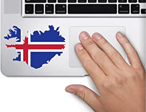 Map with Flag Inside Iceland 3x4 inches Sticker Decal die Cut Vinyl - Made and Shipped in USA