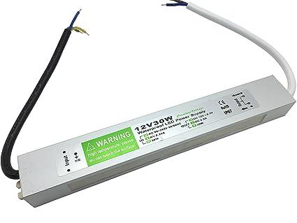 YXH® Transformador 30W LED Tira Módulo luces Conductor 12v Fuente de alimentación iluminación exterior impermeable