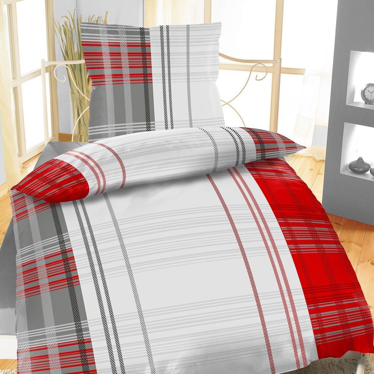 4tlg Warme Winter Bettwäsche Fleece Flausch 2X 135x200 + 2X 80 x80 Fahrhild B01LYIYU0Y Bettwsche-Sets