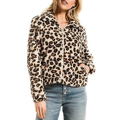 Z SUPPLY The Leopard Sherpa Crop Jacket at Women's Coats Shop