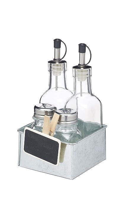 Kitchencraft We Love Verano salero y pimentero/para Salsas y condimentos – metálico, Juego