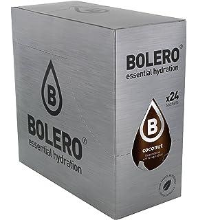 Bolero Bebida Instantánea sin Azúcar, Sabor Coco - Paquete de 24 x 9 gr -