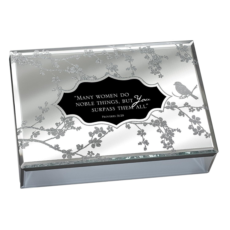 当社の Many Women Do Noble Things Things Proverbs 31:29-30 Large Deluxe Thou B00K31XQA2 Glass Mirror Jewellery Music Box - Plays Song How Great Thou Art B00K31XQA2, ミズホク:3060273f --- arcego.dominiotemporario.com