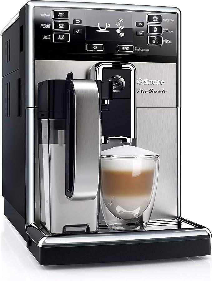Philips Saeco PicoBaristo Cafetera expreso súper automática, 1850 W, 1.8 litros, Acero inoxidable, negro y plata: Amazon.es: Hogar