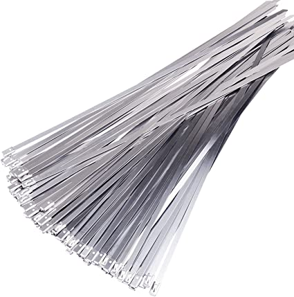 "25 pack 27/"" Inch Stainless Steel Metal Cable Wire Zip Wrap Ties 100 lbs pound"