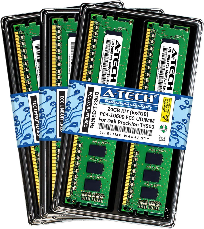 4GB DDR3 PC3-10600E Dell Precision Workstation T3500 Unbuffered DIMM Memory RAM