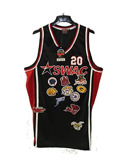 c7f57a446b9 Big Boy Gear Black SWAC Championship Team Logo Heavyweight Throwback  Basketball Jersey