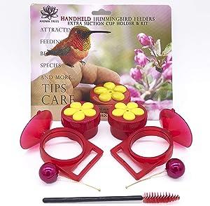 Aroma Trees Handheld Hummingbird Feeders Original Design with Perch—Pack of 2