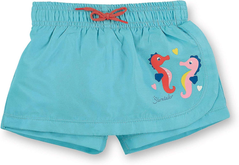 one piece Sterntaler Girls Swimming Skirt UV Protection 50+ Sea Blue