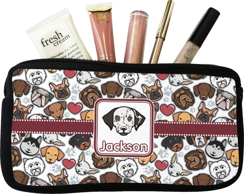Amazon.com: Perro caras/bolsa de cosméticos de maquillaje ...