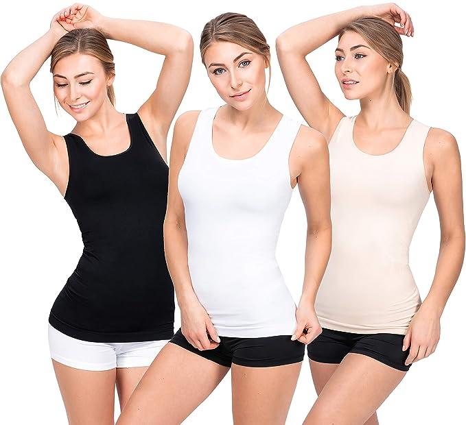 224abb0ac5770c UnsichtBra Women s Comfort Camisole Vest Set of 3  Amazon.co.uk ...