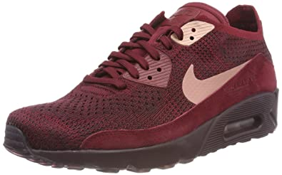 new style 217d0 30985 NIKE Men s Air Max 90 Ultra 20 Flvknit Trainers, (Team Red Rust Pink