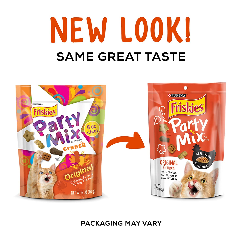 Friskies Party Mix Cat Treats Original Crunch 6 Ounce Mixed Grill 60g Pouch Pack Of 7 Pet Supplies