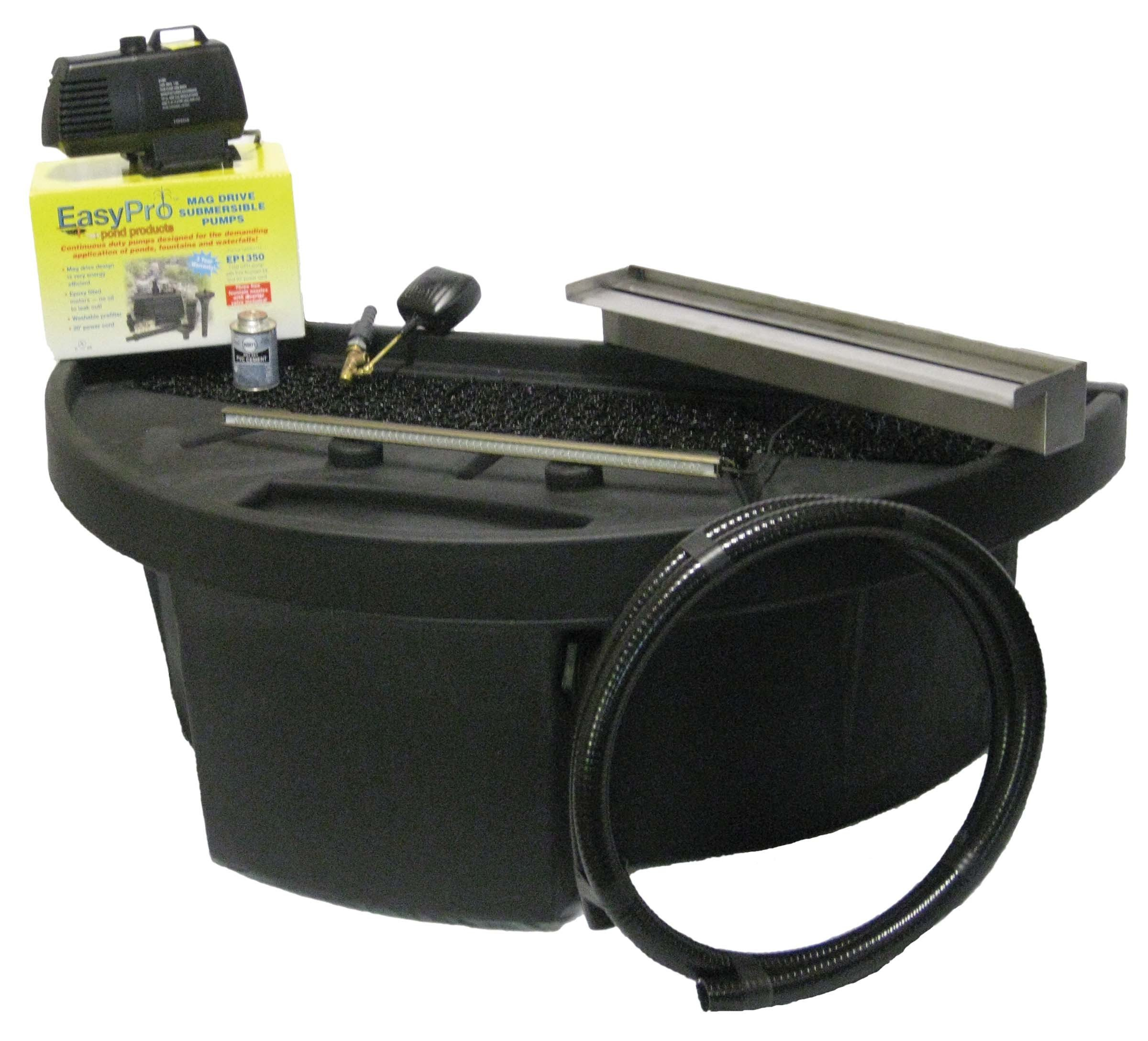EasyPro Pond Products Vianti Falls Extended Lip Spillway Kit without Light, 23''