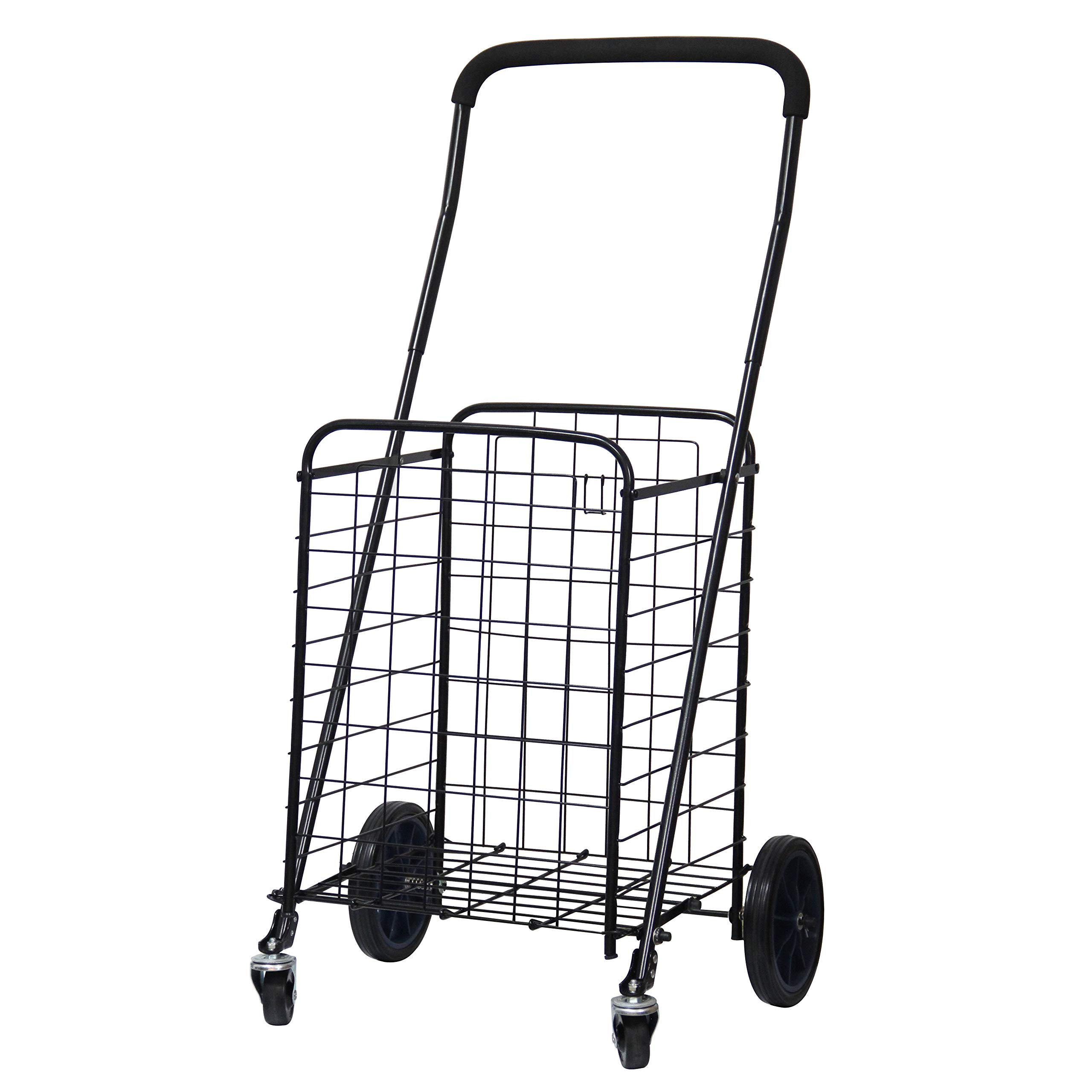 FORUP Utility Shopping Cart with Rolling Swivel Wheels (Black) by FORUP