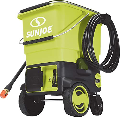 Sun Joe SPX6001C-XR 1160 PSI Max Cordless Pressure Washer, Kit w 5.0-Ah Battery Quick Charger