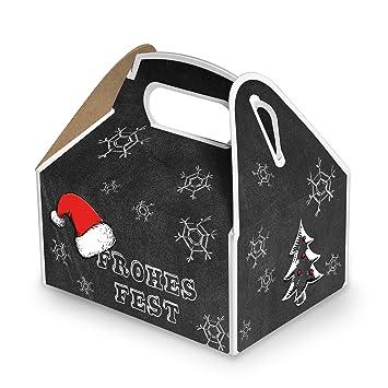 50 pequeños Blanco y Negro rojos Regalo Cajas Cajas de regalo en Navidad (9 x