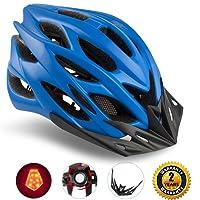 Shinmax Specializzata del Casco Bici con Luce di Sicurezza