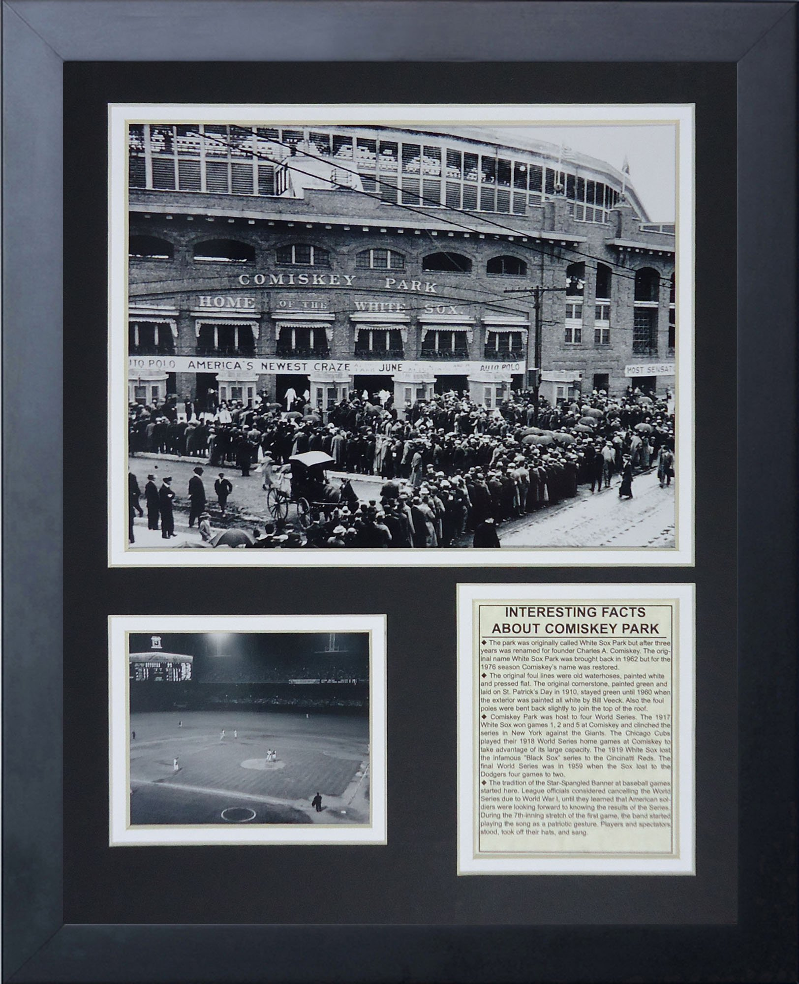 Legends Never Die 1913 Comiskey Park Framed Photo Collage, 11 x 14-Inch