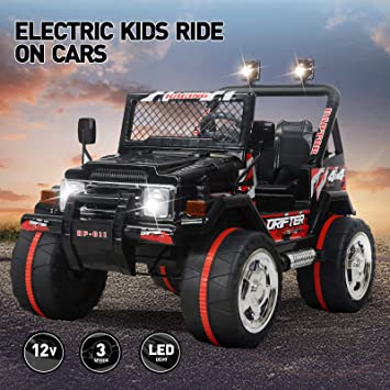 Electric Kids Cars >> Kids Car To Drive Vosson Jeep Car For Kids 12v Power Children Electric Car With Remote Control Kid Ride In Car With Battery Kids Electric Vehicles