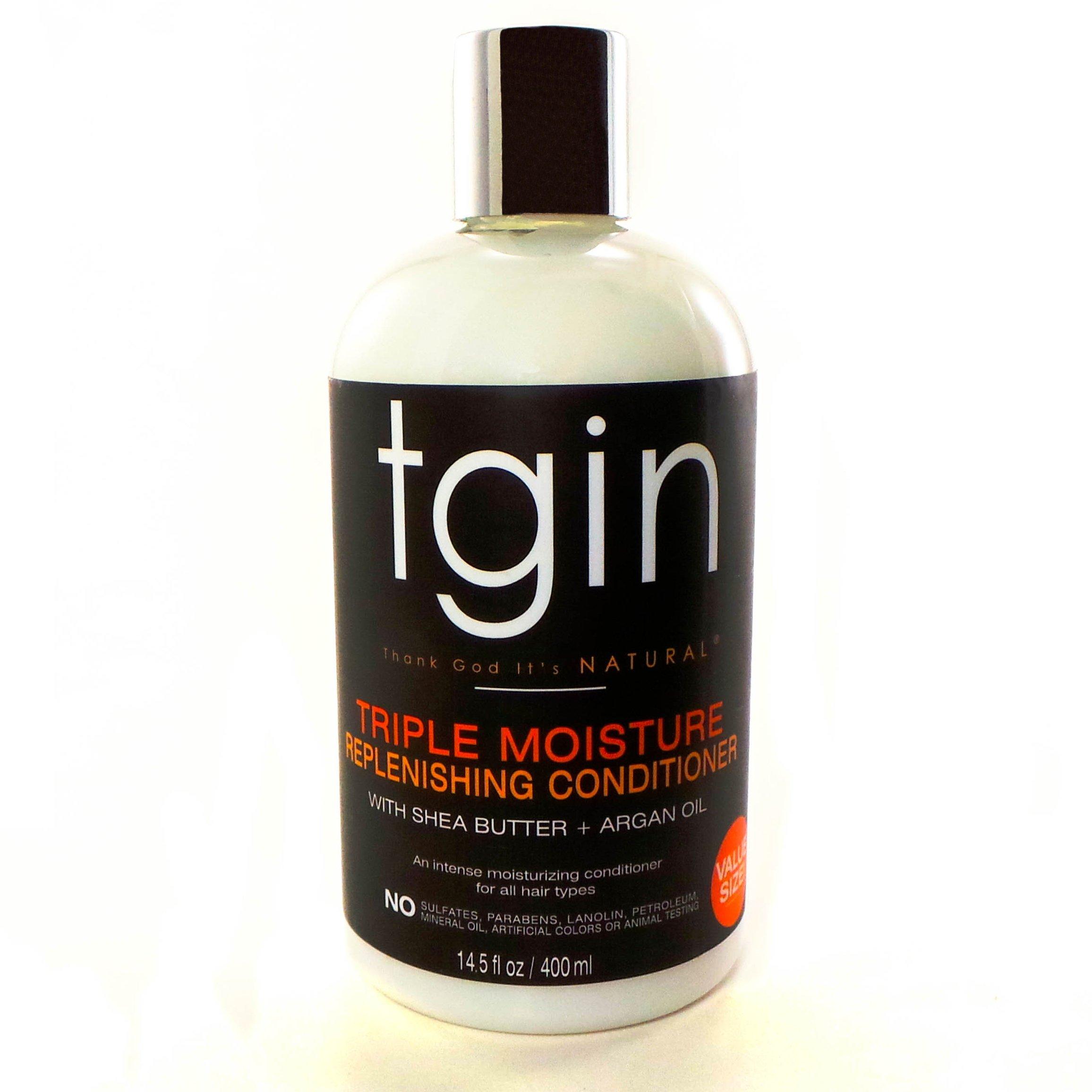 Tgin Triple Moisture Replenishing Conditioner for Natural Hair, 13oz