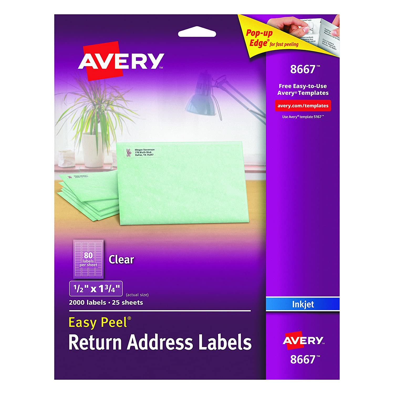 avery return address labels 5167