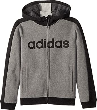 ec639e6af adidas Kids Boy's SMU Athletic's Jacket (Big Kids) Dark Grey Large ...