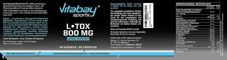 L-TOX - Complejo de altas dosis de nutrientes y plantas - 60 cápsulas: Amazon.es: Salud y cuidado personal
