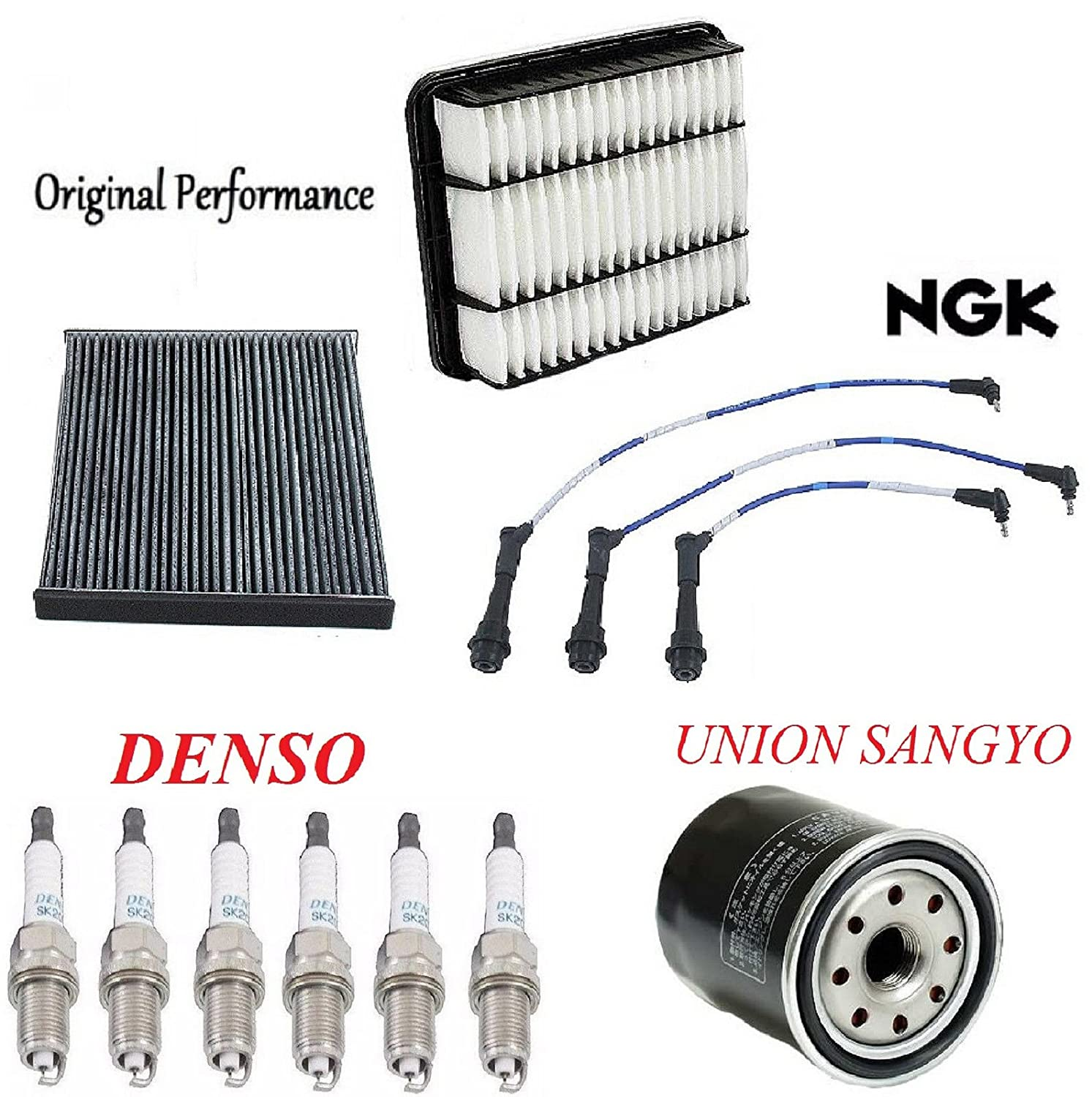 Tune Up Kit Cabin Air Oil Filters Plugs and Wire for Lexus GS300 2001-2004