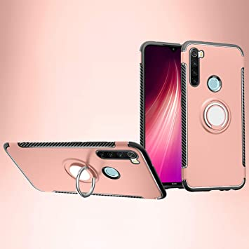 SWMGO® Firmness Smartphone Case with Ring for Xiaomi Redmi Note 8(Rose Gold): Amazon.es: Electrónica
