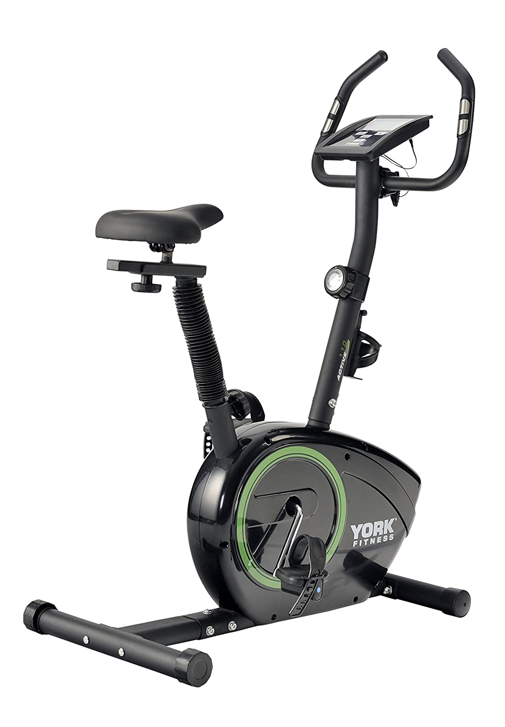 york fitness. york fitness active 110 exercise cycle - black/green: amazon.co.uk: sports \u0026 outdoors