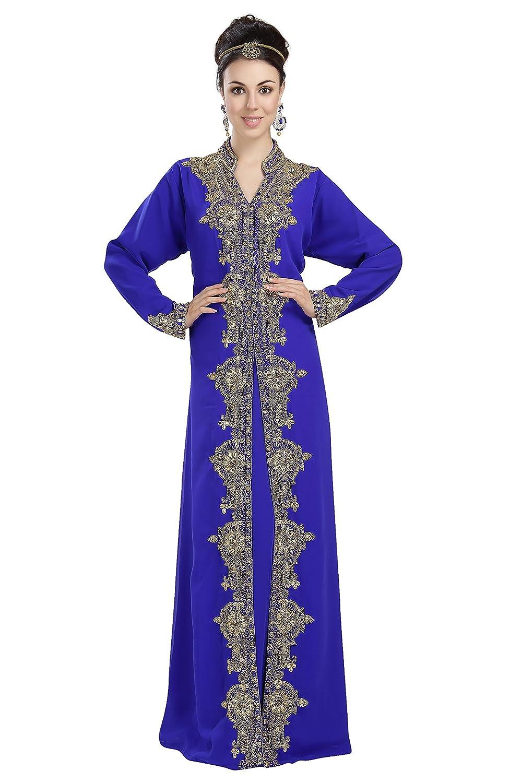 New Traditional Party Wear Arabian Khaleeji Kaftan Dress For Australian Ladies 5732