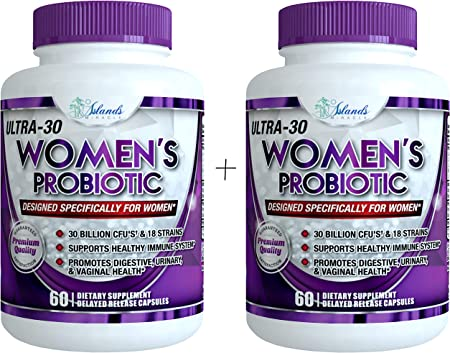 Amazon.com: Probiotics for Women 30 Billion CFU & 18 Strains with Cranberry  Extract Best Probiotic Supplement for Digestive and Urinary Health Shelf  Stable Delayed Release Veggie Capsule + Prebiotic Supplements: Health &